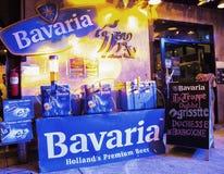 Chon Buri, Thailand - 21. April 2018: Bayerischer Bier Stand des 3. thailändischen neues Jahr-Festivals Teab Ta bei Teab Ta Srira stockfoto