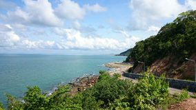 Chon-Chan Road. Beautiful curve road at Chonburi province in Thailand Stock Photography