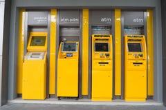 CHONBURI-, Augsut 20: Maskin för automatisk kassör, ATM i Thailand på Augusti 20, 2016 i Chonburi, Thailand Royaltyfri Fotografi