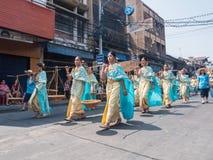 Chonburi, TAILANDIA 13 de abril: Festival de Chonburi Songkran imagen de archivo