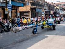 Chonburi, TAILANDIA 13 de abril: Festival de Chonburi Songkran foto de archivo libre de regalías