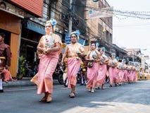 Chonburi, TAILANDIA 13 de abril: Festival de Chonburi Songkran foto de archivo