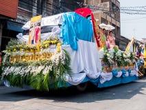 Chonburi, TAILANDIA 13 de abril: Festival de Chonburi Songkran fotografía de archivo