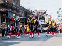 Chonburi, TAILANDIA 13 de abril: Festival de Chonburi Songkran imagen de archivo libre de regalías