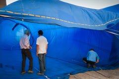 Chonburi, Tailandia - 12 de diciembre de 2009: Control t interior del inspector Imagen de archivo libre de regalías