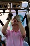 Chonburi Tajlandia, Grudzień, - 12, 2009: Pilotowy upał balonowy b Obrazy Stock
