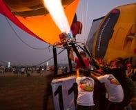 Chonburi Tajlandia, Grudzień, - 12, 2009: Pilotowy upał balonowy b Obraz Stock