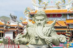 Free CHONBURI, TH - 5 April 2020 : Giant Guan Yu Statue, Kwnao Fighter In The History Of China, Statue Of The Goddess Of Integrity Of Stock Photography - 183851472