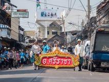 Chonburi, THAÏLANDE 13 avril : Festival de Chonburi Songkran images stock