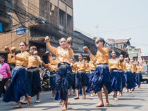 Chonburi, THAÏLANDE 13 avril : Festival de Chonburi Songkran photo stock