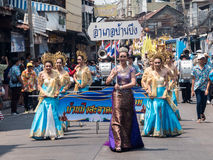 Chonburi, THAÏLANDE 13 avril : Festival de Chonburi Songkran Images stock