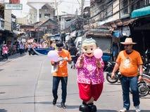 Chonburi, THAÏLANDE 13 avril : Festival de Chonburi Songkran Le pair photo stock