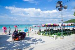 Chonburi, THAÏLANDE - 22 février 2018 : Koh Larn, plage de Tawaen, Images stock
