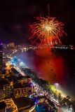 Chonburi, Thaïlande - 8 juin 2018 : Festival international de feux d'artifice de Pattaya, grand événement dans la ville de Pattay photos stock
