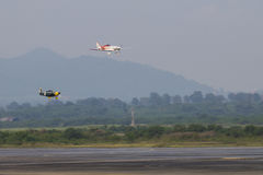 CHONBURI - THAÏLANDE nov., 20 : le champion de la Thaïlande de la course 1 d'air Image stock