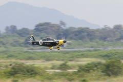 CHONBURI - THAÏLANDE nov., 20 : Steve Temple dans le sien avion aucun 87 de Image stock