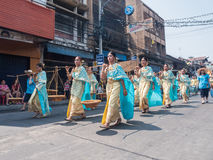 Chonburi, THAILAND-APRIL 13: Chonburi Songkran festival. The parade annual Chonburi Songkran festival .on April 13,2016 in Chonburi,Thailand Stock Image