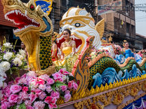 Chonburi, THAILAND-APRIL 13: Chonburi Songkran festival. The parade annual Chonburi Songkran festival .on April 13,2016 in Chonburi,Thailand Stock Images