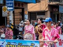 Chonburi, THAILAND-APRIL 13: Chonburi Songkran festival. The parade annual Chonburi Songkran festival .on April 13,2016 in Chonburi,Thailand Royalty Free Stock Photos