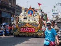 Chonburi, THAILAND-APRIL 13: Chonburi Songkran festival. The parade annual Chonburi Songkran festival .on April 13,2016 in Chonburi,Thailand Royalty Free Stock Photo