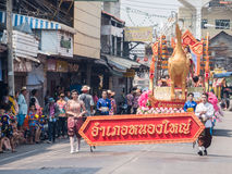 Chonburi, THAILAND-APRIL 13: Chonburi Songkran festival. Royalty Free Stock Photos
