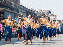 Chonburi, THAILAND-APRIL 13: Chonburi Songkran festival. Stock Image