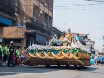 Chonburi, THAILAND-APRIL 13: Chonburi Songkran festival. The parade annual Chonburi Songkran festival .on April 13,2016 in Chonburi,Thailand Royalty Free Stock Images