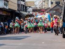 Chonburi, THAILAND-APRIL 13: Chonburi Songkran festival. Royalty Free Stock Image