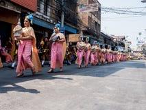 Chonburi, THAILAND-APRIL 13: Chonburi Songkran festival. The parade annual Chonburi Songkran festival .on April 13,2016 in Chonburi,Thailand Stock Photography