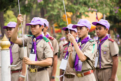 Chonburi, Thailand - April 4,2015 in Vajiravudh Scout Camp in 20th THAILAND NATIONAL SCOUT JAMBOREE Stock Photos