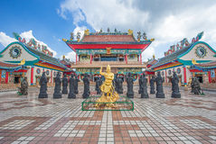 Chonburi, Thailand, Dec 26.2015: Chinese temple sculptures and s Stock Images