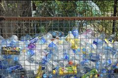 CHONBURI, THAILAND - DECEMBER 2 : plastic bottles waste in Steel Stock Photography
