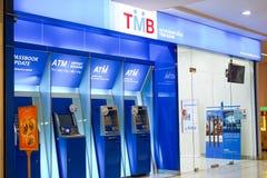 Chonburi, Thailand, februari 2018: ATM-de Bankwezendienst voor financiële transactie in het winkelcomplex royalty-vrije stock afbeeldingen
