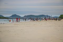 CHONBURI, THAILAND - JULY 08, 2017 : The people playing beach at Stock Photos