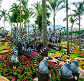 CHONBURI, THAILAND - March 18, 2016: Beautiful garden decoration Stock Photos