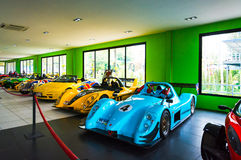 CHONBURI, THAILAND - March 18, 2016: Car Museum show in Nong Nooch Tropical Botanical Garden on March 18, 2016. Selective focus royalty free stock photography