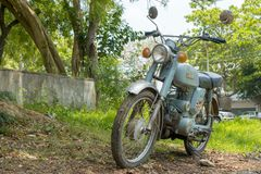 Circa mid 1960 classic and vintage Yamaha motorcycle from Japan. CHONBURI, THAILAND - MARCH 14, 2018 : Circa mid 1960 classic and vintage Yamaha motorcycle from stock image