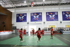 chonburigame obręcza takraw Thailand Zdjęcia Stock