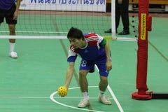 chonburigame sepak takraw泰国 免版税库存图片