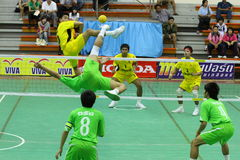 chonburigame sepak takraw Thailand Zdjęcia Royalty Free