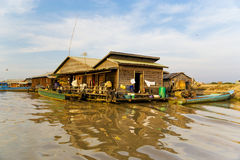 Chong Kneas Floating House, Cambodia Stock Photography