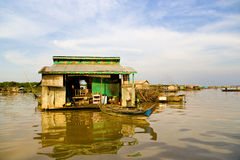 Chong Kneas Floating Village, Cambodia Stock Photography