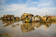 Chong Kneas Floating Village, Cambodia Royalty Free Stock Photography