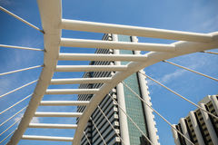 Chong Nonsi skywalk at Bangkok skytrain station Royalty Free Stock Photo