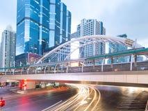 Chong Nonsi skywalk at bangkok skytrain Royalty Free Stock Images