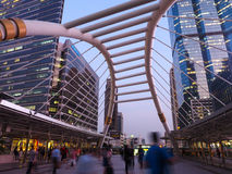 Chong Nonsi Skywalk. The center of significant business areas in Bangkok, Thailand Stock Photography