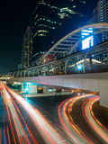 Chong Nonsi Skywalk. Street view from Chong Nonsi Skywalk, the center of significant business areas in Bangkok, Thailand Royalty Free Stock Images