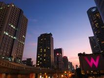 Chong Nonsi Skywalk. View from Chong Nonsi Skywalk, the center of significant business areas in Bangkok, Thailand Royalty Free Stock Photo