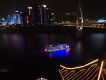Chong Qing Night Scenery Panorama pris de Hongyadong, Chine photographie stock libre de droits