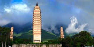 Chong-San-Tempel mit drei Kontrolltürmen lizenzfreies stockfoto